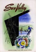 Sun Valley Holiday Center, Idaho, America. Vintage Poster.